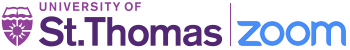 St. Thomas and Zoom Logo